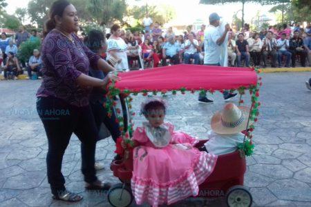 Niños progreseños le dan vida a un aniversario más de la Revolución Mexicana