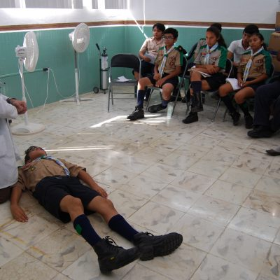 Boyscouts progreseños aprenden técnicas para salvar vidas