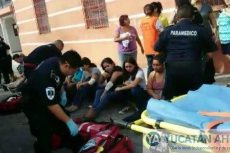 Vuelca taxi-colectivo ruta '66 Ibérica': 12 lesionados