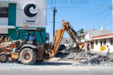 A más de la mitad avanza la ampliación de red de agua potable en Chicxulub Puerto