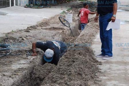 Realizan trabajos para mejorar la presión del agua en Progreso