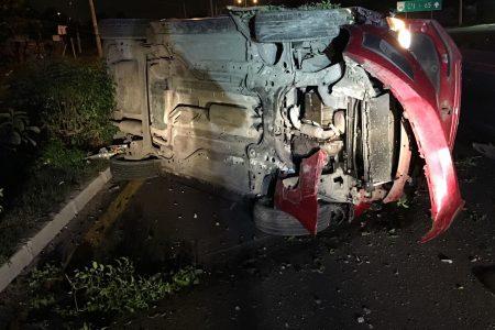 Huye del accidente tras hacer madrugar a los cuerpos de emergencias y rescate