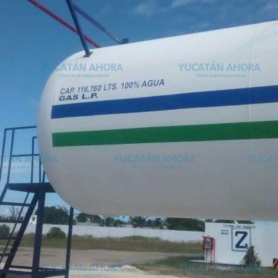 A tiempo controlan fuga en tanque estacionario de gas de 116 mil litros