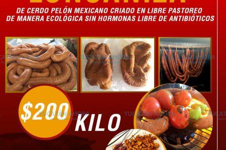 Longaniza de cerdo pelón, un producto sano y con sabor gourmet