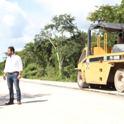 Avanza modernización carretera en el oriente de Yucatán