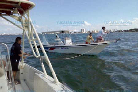 Se frustra su paseo dominical navegando por la costa yucateca