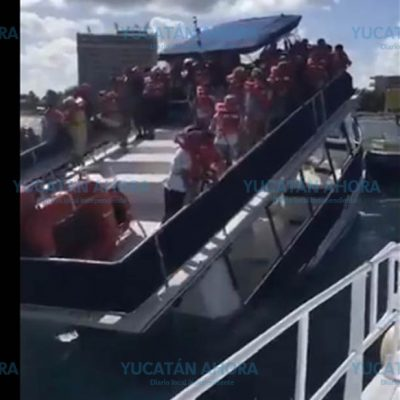 Se hunde barco turístico en Cozumel: llevaba 95 pasajeros