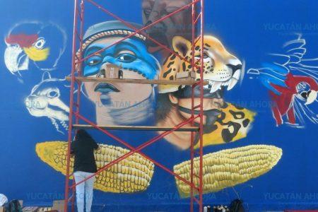 Graffitis, parte del renacimiento de Xcalachén, el barrio de la chicharra