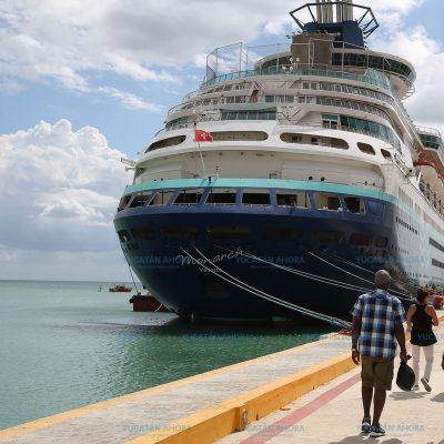 Turistas de tres cruceros recibirán el año en Progreso