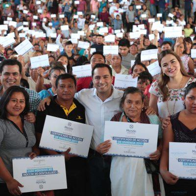 Nunca antes en Mérida se habían entregado tantos apoyos para mejorar viviendas