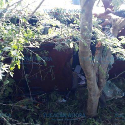 Muere al estrellarse contra un árbol de 'chukum'