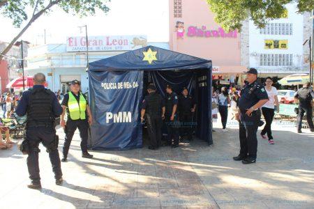 Seis detenciones por disturbio en el centro de Mérida durante Navidad