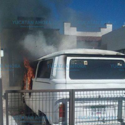Venganza femenina en Mérida: ex esposa le quema su vehículo