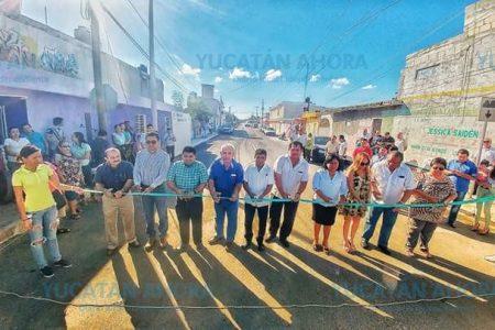 Estrenan calles en Chicxulub puerto antes de terminar el año