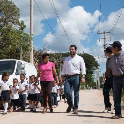 Con nuevas calles mejoran la calidad en Dzilam González
