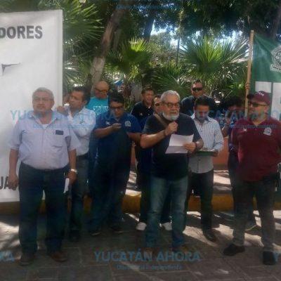 Protestan ante el intento de aniquilar al sector obrero