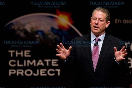 Yucatecos se entrenarán sobre cambio climático con Al Gore, Premio Nobel de la Paz