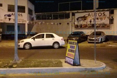 Por cobardía, huye tras causar desastre en San Luis Chuburná