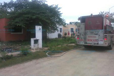 Se incendia casa que permanece sola todo el tiempo