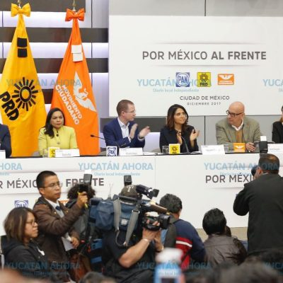 Registran ante el INE la coalición PAN-PRD-Movimiento Ciudadano