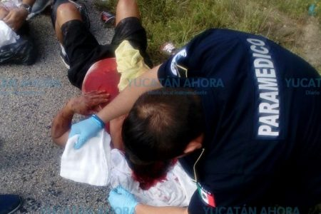 Accidente con ocho lesionados en la carretera Mérida-Cancún