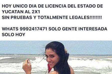 La SSP Yucatán desmiente que haya promoción de 2×1 en licencias