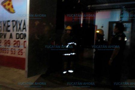 Flamazo en pizzería de Kanasín, por una fuga de gas