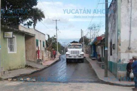 Estrenan calles en Tixcacalcupul
