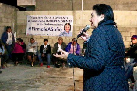 Sofía Castro asegura que es una opción diferente a la de los partidos políticos