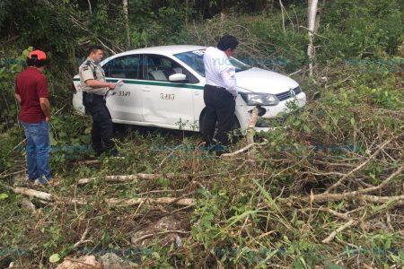 Taxista de Cancún se duerme al volante en su camino hacia Mérida