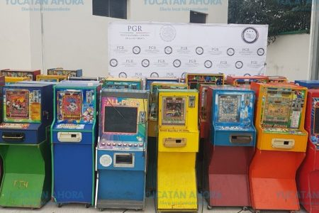 Investiga PGR sobre minicasinos decomisados en Peto, Tekax, Ticul y Oxkutzcab