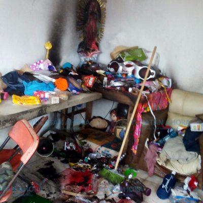 Por poco quema su casa de Mulchechén una niña de tres años