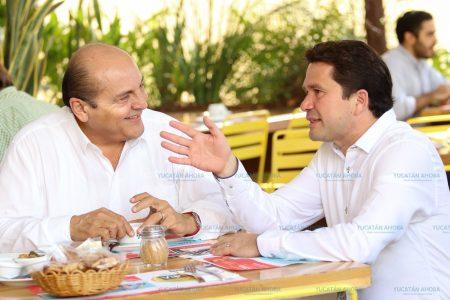 Meade y Sahuí acuerdan fortalecer la campaña del PRI en Yucatán