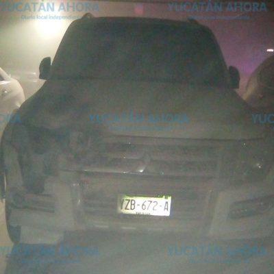 Se incendia su auto en el estacionamiento subterráneo de Plaza Altabrisa