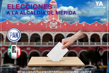 PAN y PRI van por Mérida con el 'rival más débil'