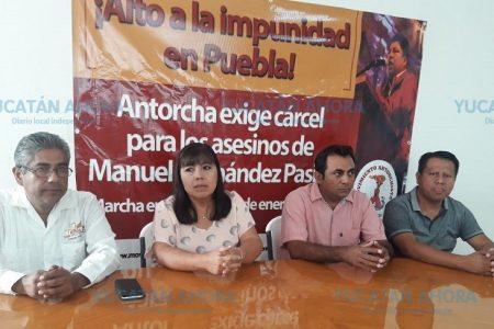 Antorchistas de Yucatán exigen justicia para Manuel Hernández Pasión