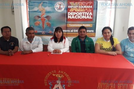 Viajan a Espartaqueada Deportiva más de 230 deportistas yucatecos