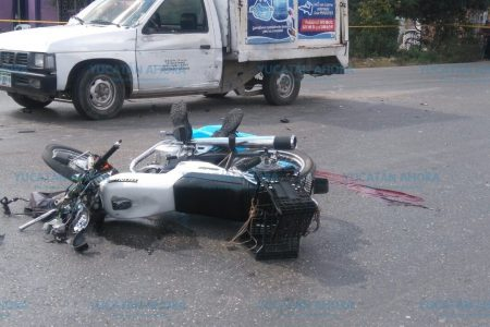 Trágica muerte de un motociclista en Kanasín