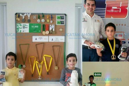Los gemelos Ferran y Toni, doble talento en el ajedrez infantil de Yucatán