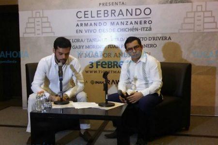 Con emoción y energía, se prepara Manzanero para su concierto en Chichén Itzá