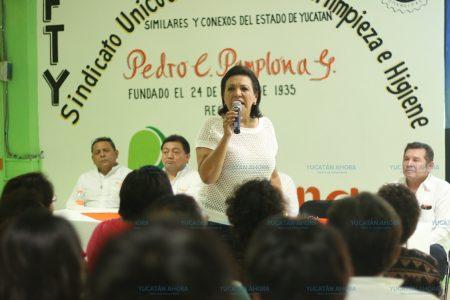 Sofía Castro se reúne con socios del sindicato  Pamplona