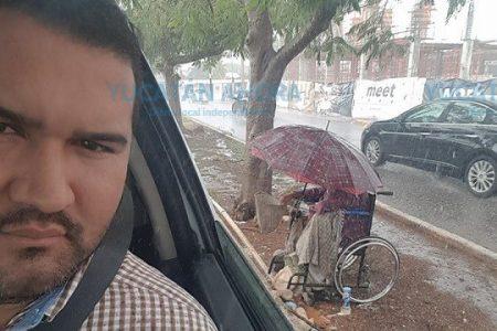 Qué triste se oía la lluvia bajo el paraguas de ese mendigo