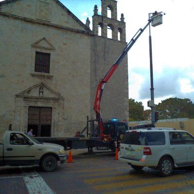 Tiende SSP cerco de video-vigilancia en el 'corazón' del Centro Histórico de Mérida
