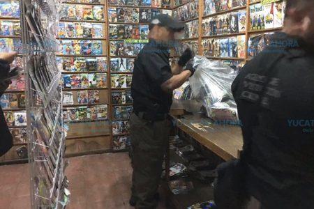 Desmantelan negocio de venta de piratería en Hunucmá