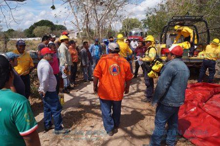 Más de 600 personas se alistan para enfrentar los incendios forestales