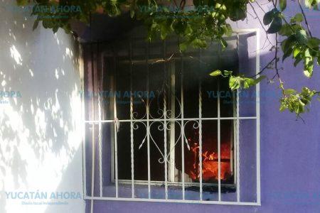 'Ardiente' despertar este domingo de una familia  en la colonia Canto
