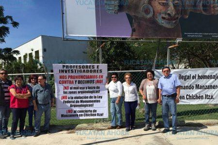Investigadores del INAH Yucatán protestan contra concierto de Manzanero