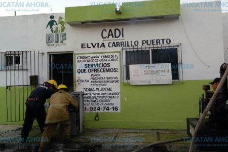 Madrugador incendio en un Centro de Atención al Desarrollo Integral del DIF