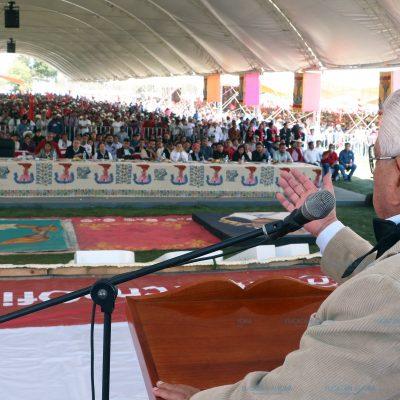 Exigen 50 mil antorchistas de Puebla justicia para Manuel Hernández