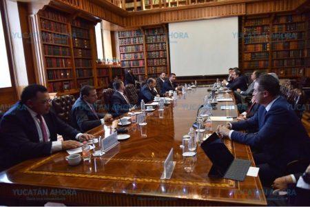 Gobernador de Yucatán se reúne con el titular de Segob
